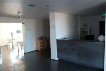 Azores - S.Maria Is. - Vila do Porto : Reception in the Vila do Porto hostel in Portugal