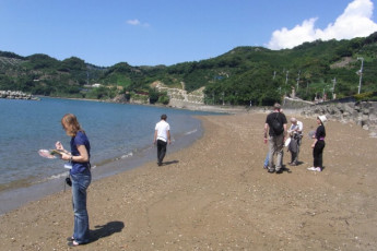 Yuasa - Arida Orange YH : Beach near the Arida Orange hostel in Japan