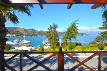 Fethiye - V-GO's Hotel & Guesthouse : View from the V GOs Hotel and Guesthouse in Turkey