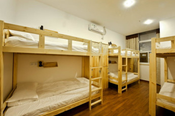 Shanghai - Blue Mountain YH Bund : dormitorio en el Blue Mountain YH Bund hostal en China