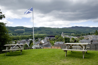 Pitlochry SYHA : Exterior view from the Pitlochry hostel in Scotland
