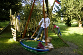 Hollenfels : Playground at Hollenfels Hostel, Luxembourg
