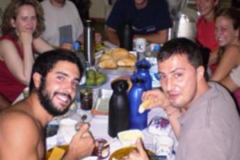 Manaus - Hostel Manaus : Guests Dining in Hostel Manaus, Brazil