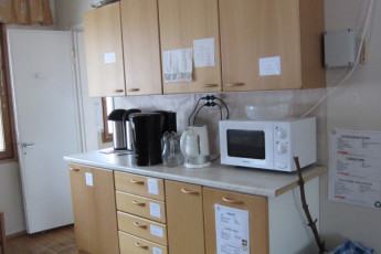 Joensuu - Scouts' Youth Hostel : Kitchen in the Scouts Youth Hostel in Finland