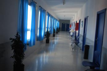 Albergue Inturjoven de Málaga : Hallway in the Albergue Inturjoven de Malaga Hostel in Spain