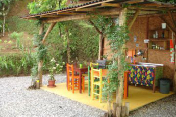 Joinville - Joinville Hostel : Patio Area at Joinville Hostel, Brazil