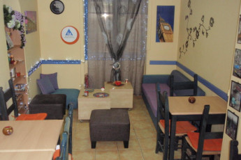 Athens - Student & Travellers Inn : Lounge and Dining Area in Athens - Student and Travellers Inn, Greece