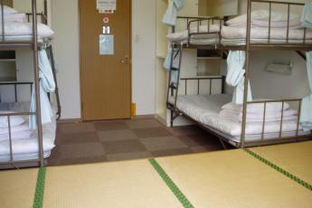 Yakushima - Yakushima YH : dormitorio en Yakushima - Miyanoura puerto Youth Hostel, Japón