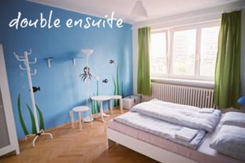 Bratislava - Hostel Patio : Double Bedroom with Ensuite in Bratislava - Hostel Patio, Slovakia