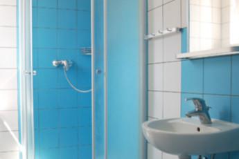 Bratislava - Hostel Patio : Bathroom in Double Ensuite Room at Bratislava - Hostel Patio, Slovakia