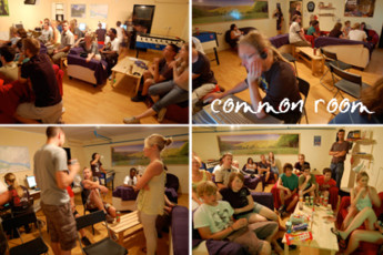 Bratislava - Hostel Patio : Guests Relaxing in the Common Room at Bratislava - Hostel Patio, Slovakia
