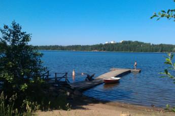 Lappeenranta - Huhtiniemi : Lake at Lappeenranta - Huhtiniemi Hostel, Finland