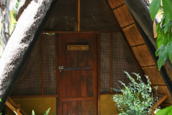 Jollyboys Backpackers & Camp : Exterior View of Chalet at Jollyboys Backpackers and Camp Hostel, Zambia