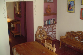 Zacatecas - Hostel Villa Colonial : Lounge and Dining Area in Studio at Zacatecas - Hostel Villa Colonial, Mexico