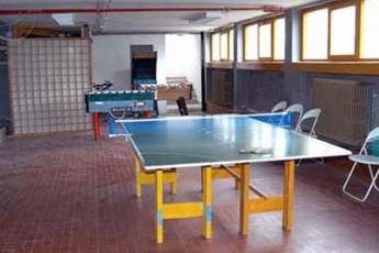 Abetone - Renzo Bizzarri : Unterhaltungsbereich in Abetone - Renzo Bizarri Hostel, Italien
