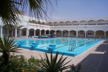 Jeddah Governorate : Pool Area at Jeddah Governorate Hostel, Saudi Arabia