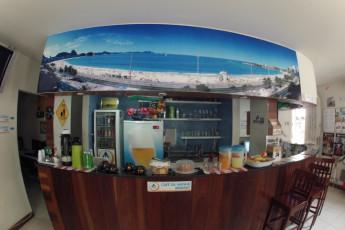 Rio De Janeiro – Rio Rockers Hostel : café en el Río Synth hostal en Brasil