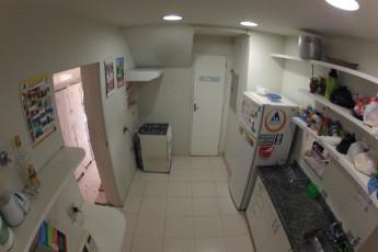 Rio De Janeiro – Rio Rockers Hostel : Cocina en el Rio Synth hostal en Brasil
