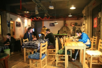Shanghai Blue Mountain Youth Hostel : Entertainment Area in Shanghai Blue Mountain Youth Hostel, China
