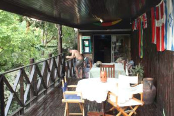 Nelspruit/Mbombela - Old Vic Backpackers : Balcony at Nelspruit/Mbombela - Old Vic Backpackers Hostel, South Africa