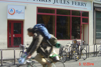 Auberge de jeunesse Hi Paris Jules Ferry : Front Exterior View of Paris - Jules Ferry Hostel, France