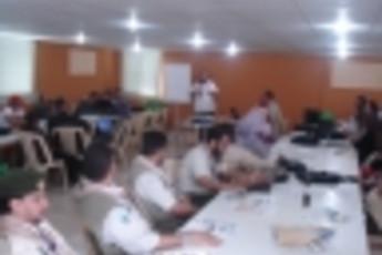 Zefta - Pines Hostel : Sala de reuniones y conferencias en Zefta - pinos hostal, Líbano
