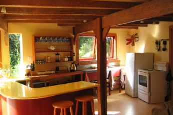 YHA Punakaiki : Kitchen Area in the Punakaiki Hostel in New Zealand