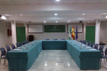 Albergue Inturjoven Sevilla : Conference room in the Albergue Inturjoven Sevilla Hostel in Spain