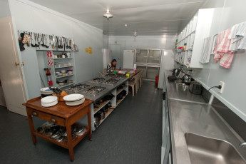 YHA Gisborne : Kitchen in Gisborne - Gisborne Youth Hostel Association, New Zealand