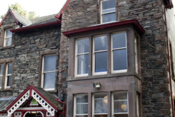 YHA Buttermere : Front Exterior View of Buttermere Hostel, England