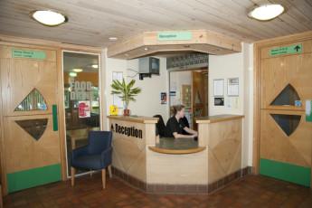 YHA Sherwood Forest : Reception Desk in Sherwood Forest Hostel, England