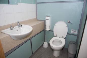 YHA Sherwood Forest : Bathroom in Sherwood Forest Hostel, England