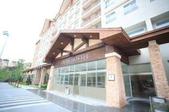 Hongcheon - Vivaldipark YH : Front Exterior View of Hongcheon - Vivaldipark Youth Hostel, South Korea