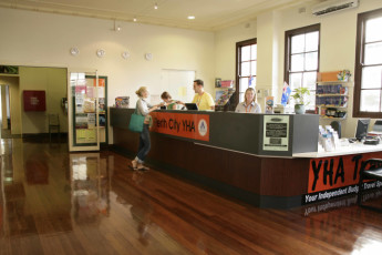 Perth City YHA : Reception Area in Perth City Youth Hostel Association, Australia