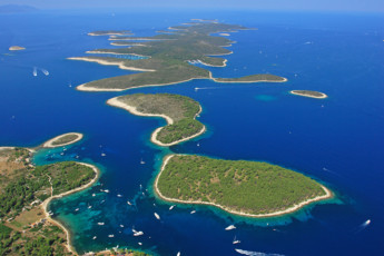 Stari Grad (island of Hvar) - Sunce : Aerial View of Landscape at Stari Grad (island of Hvar) - Sunce Hostel, Croatia