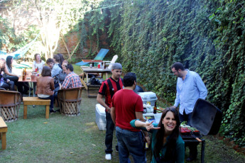 Guadalajara - Hostel Hospedarte Chapultepec : BBQ sunday at the Hostel