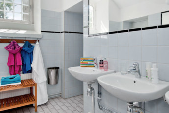 Stockholm - Langholmen : Our modern bathrooms at the hostel in Langholmen are waiting to welcome you