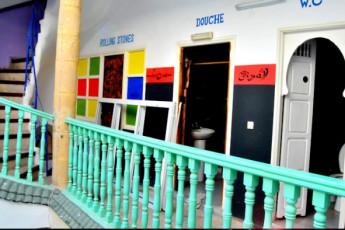 Essaouira hostel : Essaouira hostel hall
