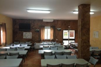 Albergue Villuercas : El comedor se convierte en sala multiuso