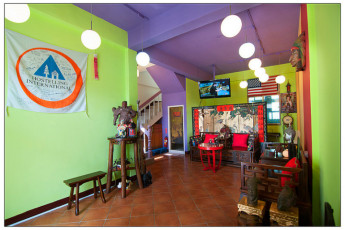 Penghu - Penghu Moncsor Youth Hostel : Colourful common room at Penghu - Penghu Moncsor Youth Hostel Taiwan