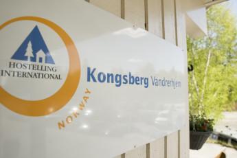 Kongsberg : Kongsberg Hostel exterior sign