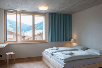 Gstaad Saanenland Youth Hostel : Lounge in the Gstaad Saanenland Tourismus hostel in Switzerland