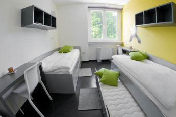 Youth Hostel Brežice : Fashionably furnished 2-bed room for families, couples or individuals