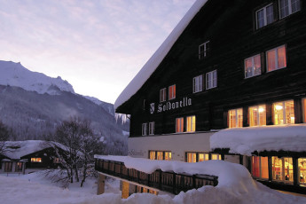 Klosters Youth Hostel : monastery hostel in Switzerland's exterior