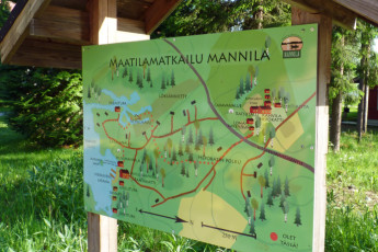 Punkaharju - Hostel Mannila : Sign for Hostel Mannila in the summer