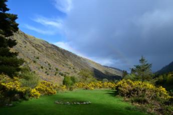 Glenmalure - Co Wicklow YHA : Morning View from Glenmalure Hostel