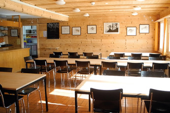 Klosters Youth Hostel : monastery hostel in Switzerland's library
