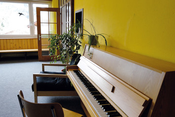 Klosters Youth Hostel : monastery hostel in Switzerland's dorm