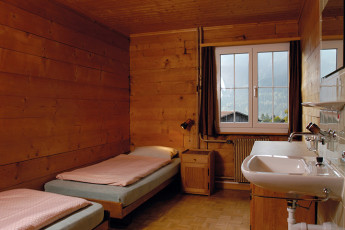 Klosters Youth Hostel : monastery hostel in Switzerland's twin room