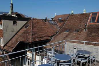 Solothurn Youth Hostel : Solothurn hostel in Switzerland exterior terrace